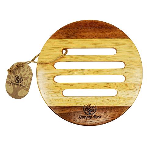 Lampang Wood 天然相思+橡木圓形隔熱墊 19cm