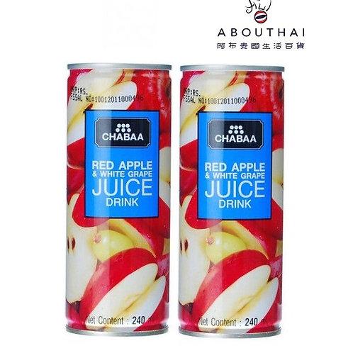 CHABAA 芭提婭紅蘋果白提子汁飲品 230ml (2罐裝)