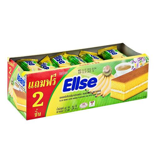 Ellse 香蕉蛋糕 15克x24件裝