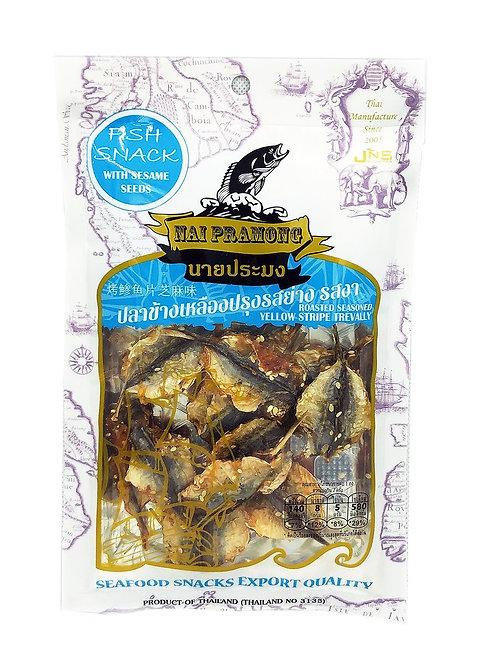 Thaiwin泰妹 芝麻味烤鰺魚片 40克