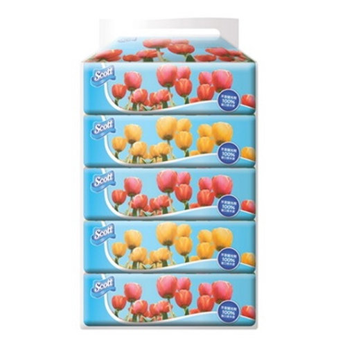 SCOTT 絲潔 軟包面紙 - 5盒
