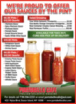 Portobello Cafe Sauces