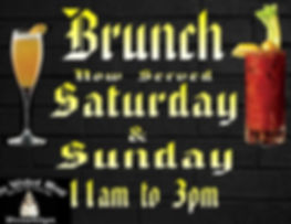Brunch served Saturday an Sunday from 11-3pm
