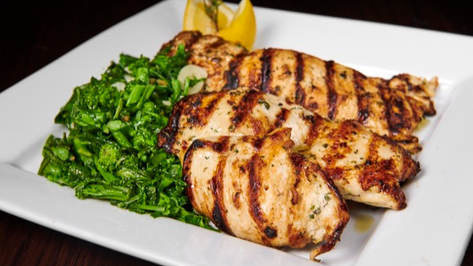 Grilled Chicken With Broccoli Rabe