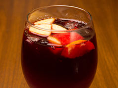 Glass of Red Sangria