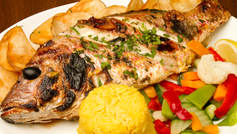 Broiled red Snapper