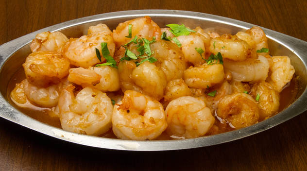 Shrimp in garlic