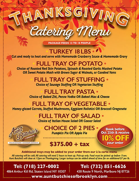 Aunt Butchies Thanksgiving Day Catering