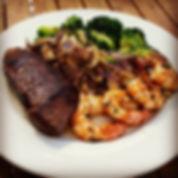 Steak, Shrimp snd Broccoli Entree