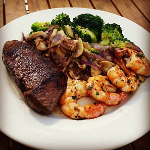 Steak, Shrimp snd Broccoli Entree
