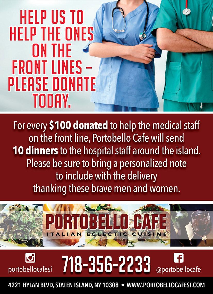 Portobello Cafe_Frontline Charity ad_8x1