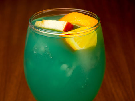 Glass Blue Sangria