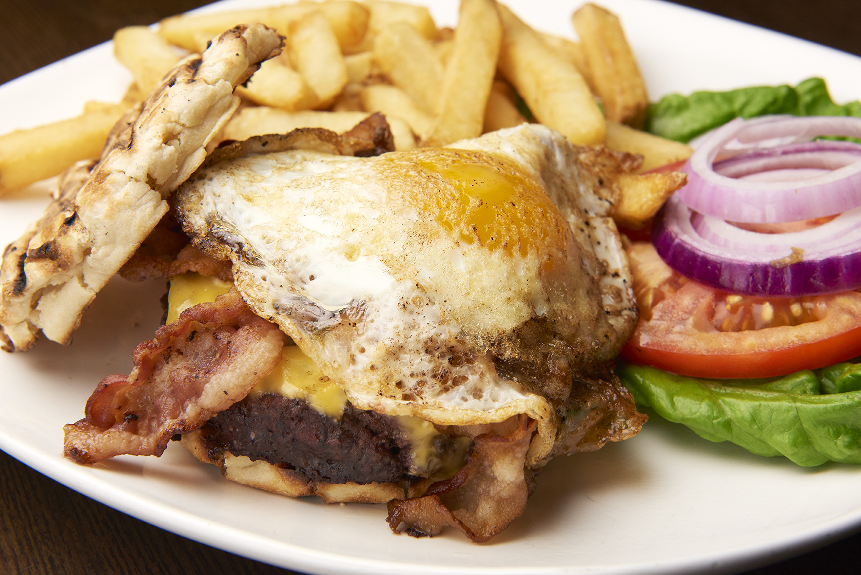 Bacon Cheeseburger with Egg
