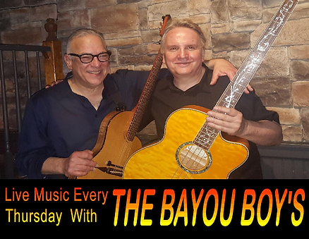 The Bayou Boys Play Live Music every Thursday