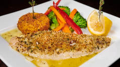 Filet Of Sole Oreganata