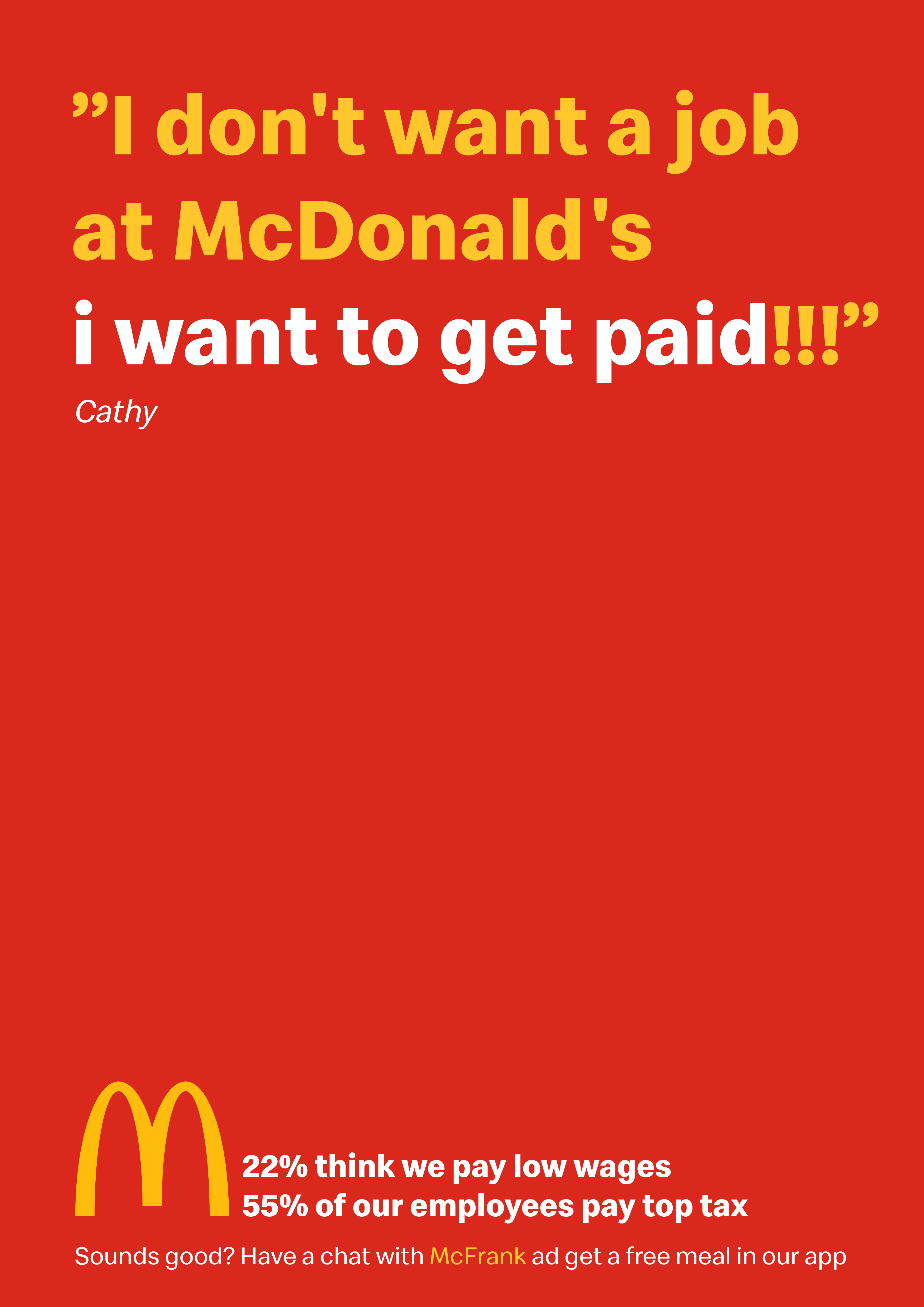McFrank for McDonalds | Ulik Kepinski Rode | Creative Portfolio
