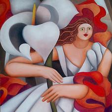 Portrait d'Irma, hommage à Tamara de Lempicka