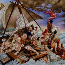 Le radeau de la Méduse, hommage à Géricault