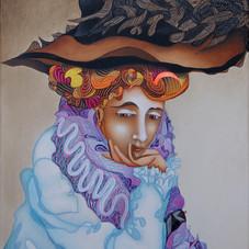 Femme au chapeau, hommage à Gustav Klimt