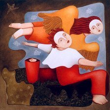 Huile sur toile, 100 x 100 cm. (collection privée)