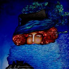L'énigmatique femme aux oiseaux, hommage à Gustav Klimt