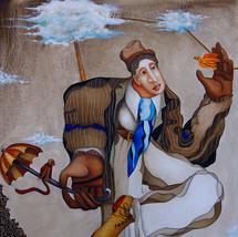 L'homme qui marche sur le fil des nuages