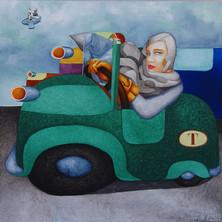 Tamara à la Bugatti verte