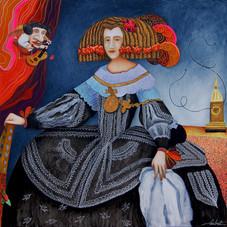 Portrait de Marie Anne d'Autriche, hommage à Vélasquez