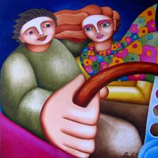 Huile sur toile, 80 x 80 cm. (collection privée)