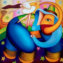 La parade de l'éléphant bleu