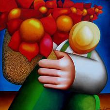 Le vendeur de fleurs, hommage à Diego Rivera
