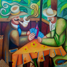 Les joueurs de cartes, hommage à Cézanne