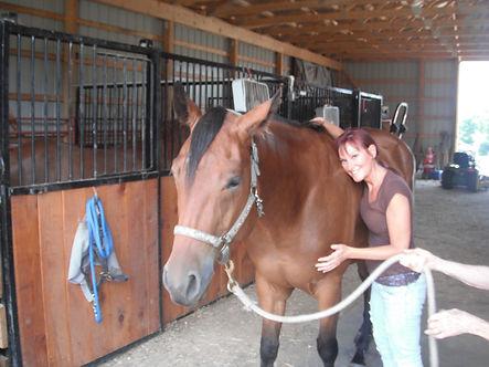 Dr Morissette, certified animal chiropractor