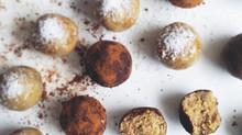 Clean chickpea carob truffles