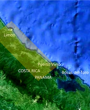 Region from Puerto Viejo to Liimon, Costa Rica