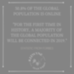 50.8% of the global population is online