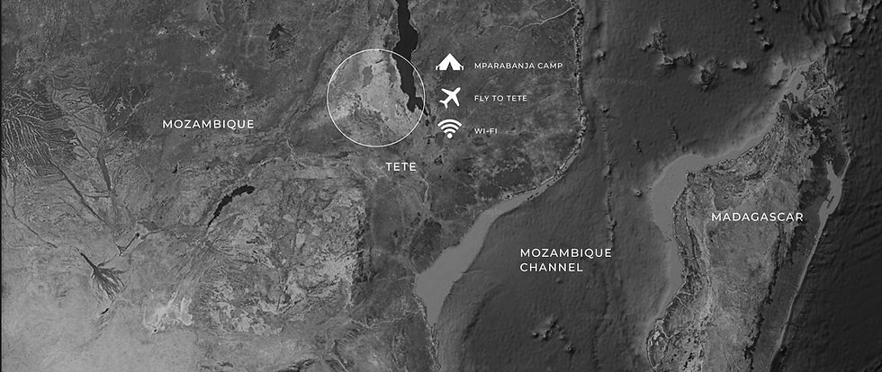 Mozambique hunting map