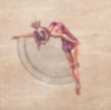Polly Morwood Pommegranate Diver Girl Painting