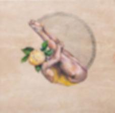 Polly Morwood Lemon Head Diver Girl Painting