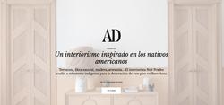 Publicación Revista AD Proyecto Indè, Noe Prades Interiorista