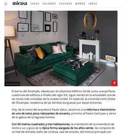 Publicación Mi Casa Revista. Proyecto Residencial Barcelona, Interiorista Paulo Valcic
