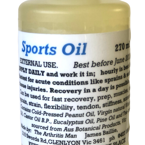 Sportsmans Oil 270ml