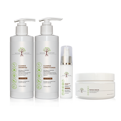 Cleanse and Nourish Hair Bundle