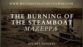 The Burning of the Steamboat Mazeppa