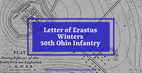 Civil War Letter - Erastus Winters