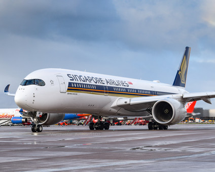 Singapore A350 Airside at MAN