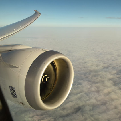 Wingview from an Ethiopian 787