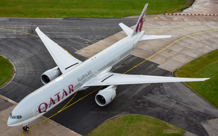 Qatar 777 from the ATC Tower