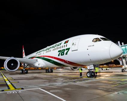 Biman Bangladesh 787 at Night