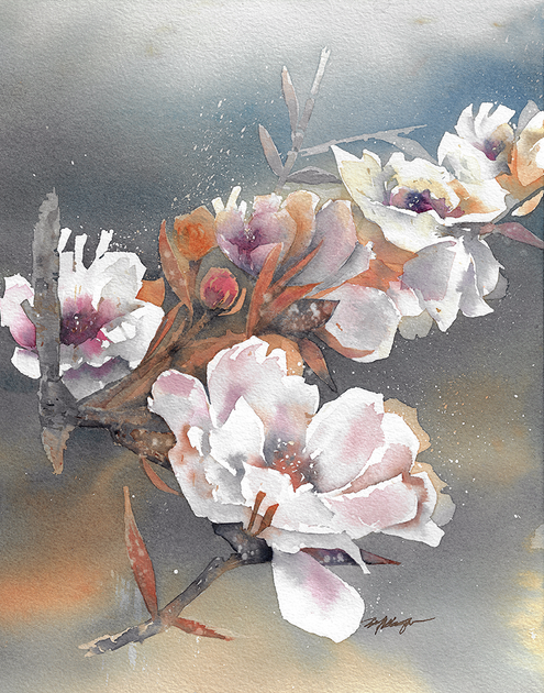 "Cherry Blossoms 14"" x 11"""